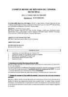 COMPTE RENDU DE REUNION DU CONSEIL MUNICIPAL du 26 février 2021