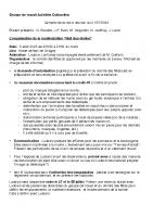Compte-rendu GT Activités Culturelles n°3