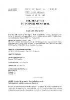 DELIBERATIONS DU 26 FEVRIER