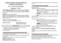 COMPTE RENDU DE RÉUNION DU CONSEIL MUNICIPAL du 7 Mai 2021 bis