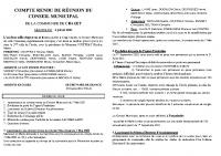 COMPTE RENDU DE REUNION DU CONSEIL MUNICIPAL du 2 Juillet 2021bis